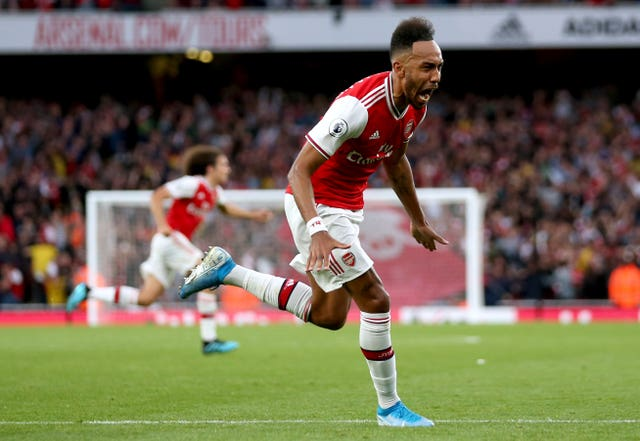Pierre-Emerick Aubameyang (pictured) was Arsenal's hero as they came from behind twice to beat Aston Villa 3-2 at the Emirates Stadium