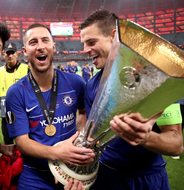 Hazard (left) enjoyed a glittering seven-year spell at Stamford Bridge