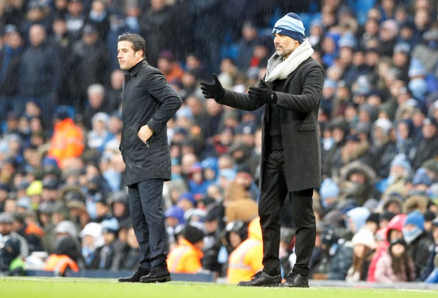 Marco Silva (left) felt Everton were not clinical enough