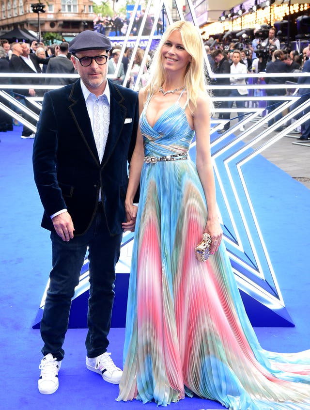 Matthew Vaughn and his wife Claudia Schiffer attending the Rocketman premiere