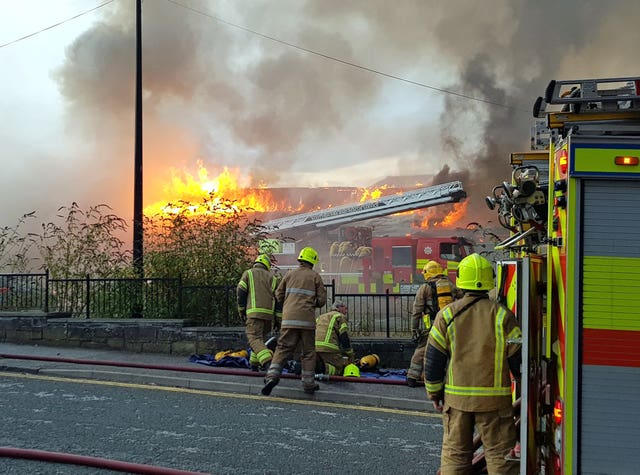 Hilltown Indoor Market fire