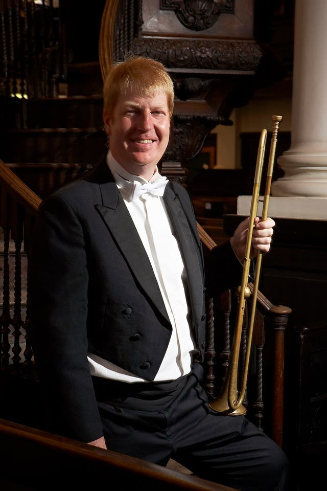 Trumpet player David Blackadder will be playing at the wedding (PA)