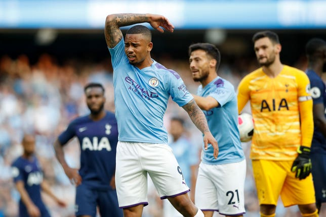 Gabriel Jesus was livid after his goal was chalked off by a controversial VAR call