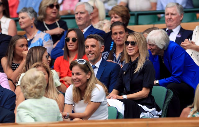 Phil Neville and his team received a standing ovation on Centre Court at Wimbledon
