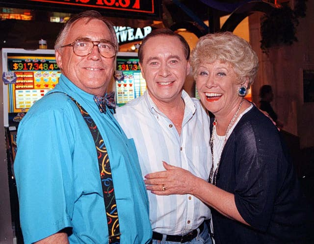Corrie's Jack and Vera Duckworth (Bill Tarmey and Liz Dawn) and Ray Langton  (Neville Buswell)