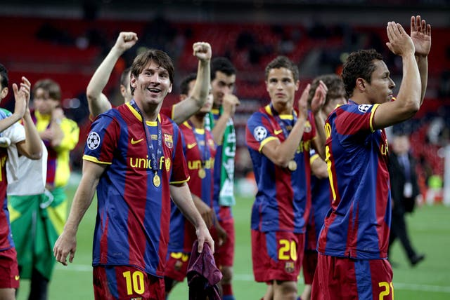 Barcelona won the Champions League at Wembley in 2011