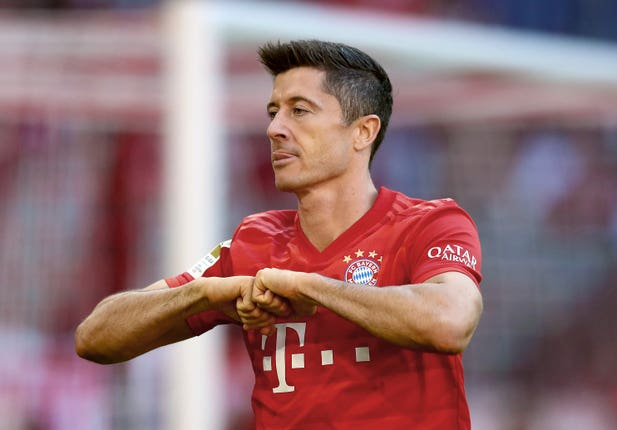 Robert Lewandowski, pictured, and his Bayern Munich team-mates will be Spurs' opponents on Tuesday night