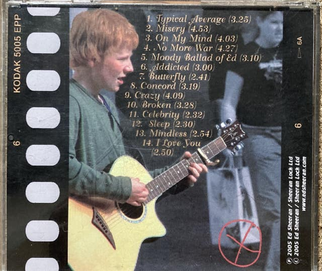 Ed Sheeran rare demo CD to be auctioned