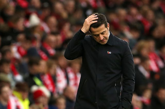 Everton boss Marco Silva is still in place for now.