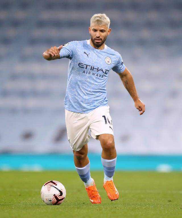 City's record goalscorer Sergio Aguero has started just three games this season
