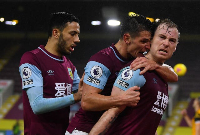 Ashley Barnes opened the scoring for the Clarets at Turf Moor (Gareth Copley/PA)