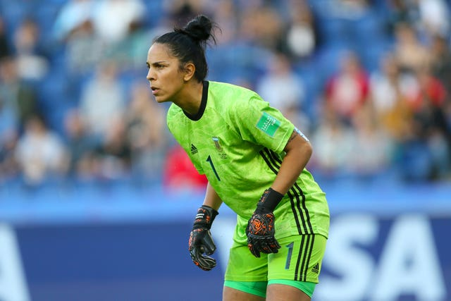 Argentina goalkeeper Vanina Correa was in fine form against England