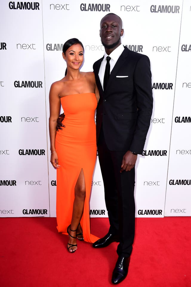 Stormzy and Maya Jama on the red carpet