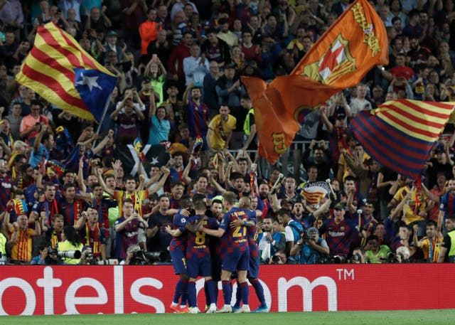 Barcelona came from behind at the Nou Camp