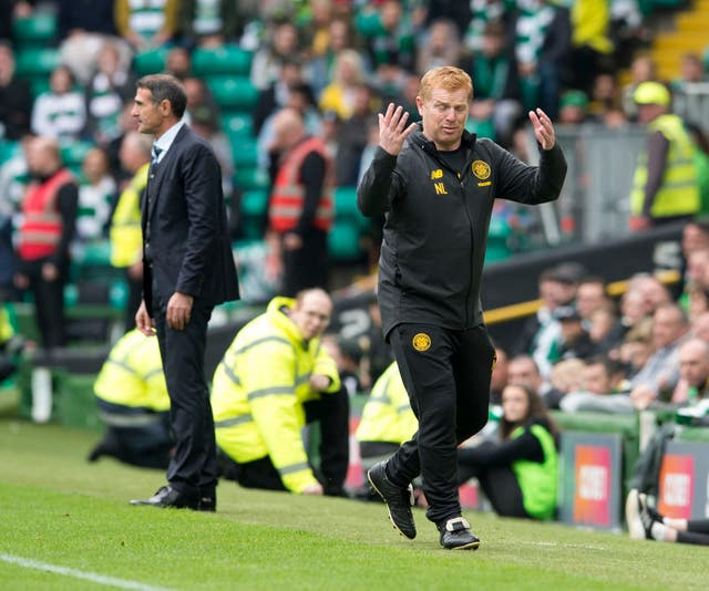 Neil Lennon was booked
