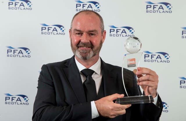 Steve Clarke won the manager prize