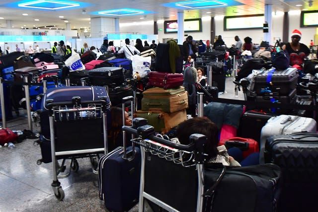 Passengers were stranded at Gatwick airport