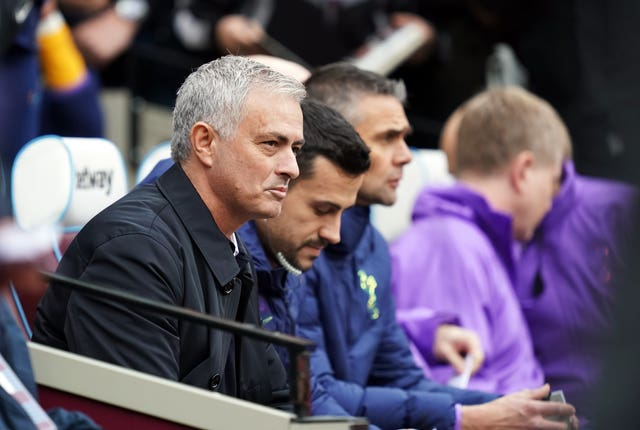 All eyes were trained on the Tottenham bench