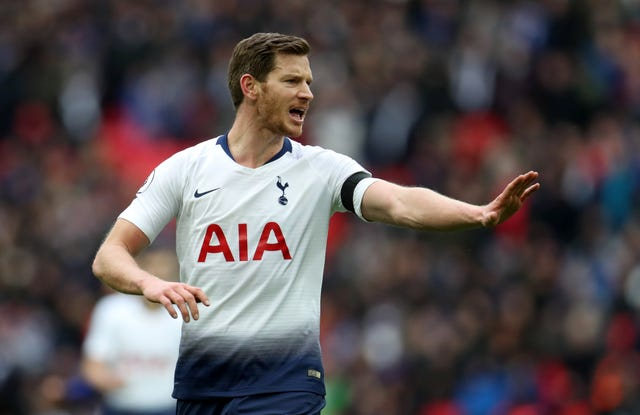 Jan Vertonghen is likely to start at left-back on Wednesday