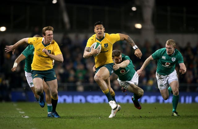 Israel Folau made 62 appearances for Australia