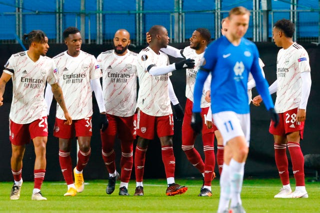 Arsenal triumphed 3-0 at Molde