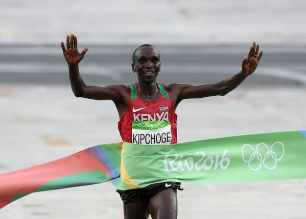 Kipchoge took Olympic gold in Rio.