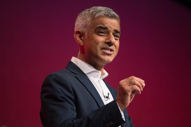 Mayor of London Sadiq Khan  (Stefan Roussea/PA)