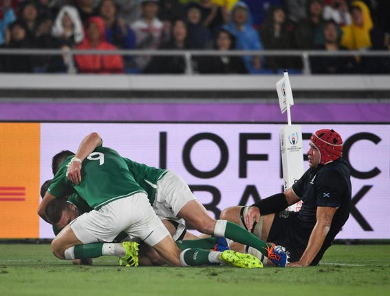 Ireland racked up a bonus-point victory in Yokohama