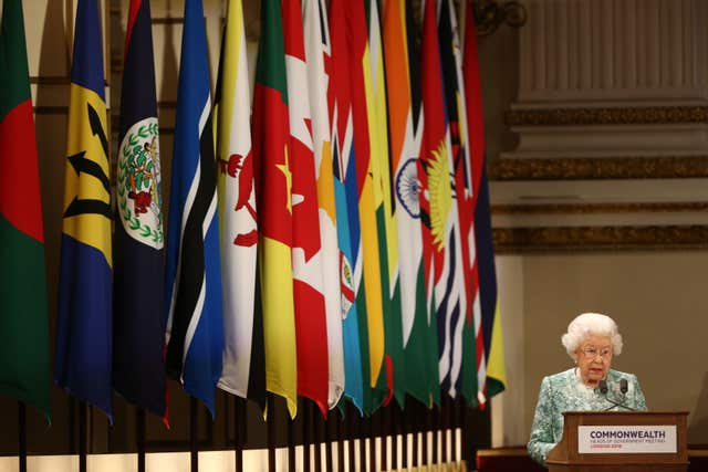 The Queen pictured as she formally opened last year's Commonwealth Heads of Government Meeting staged in the UK. Yui Mok/PA Wire