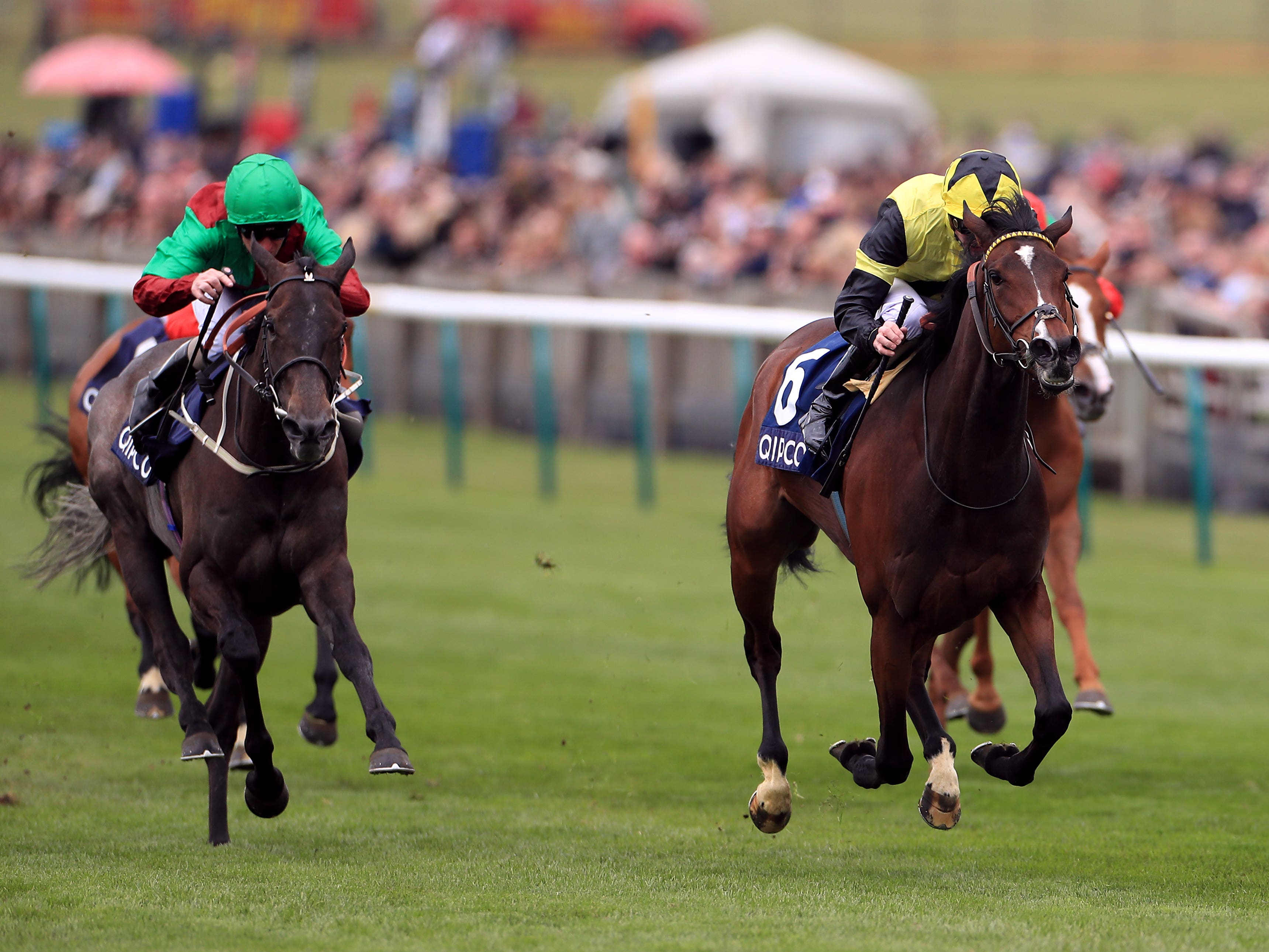 Worth Waiting and James Doyle on the way to winning the Charm Spirit Dahlia Stakes (Mike Egerton/PA)