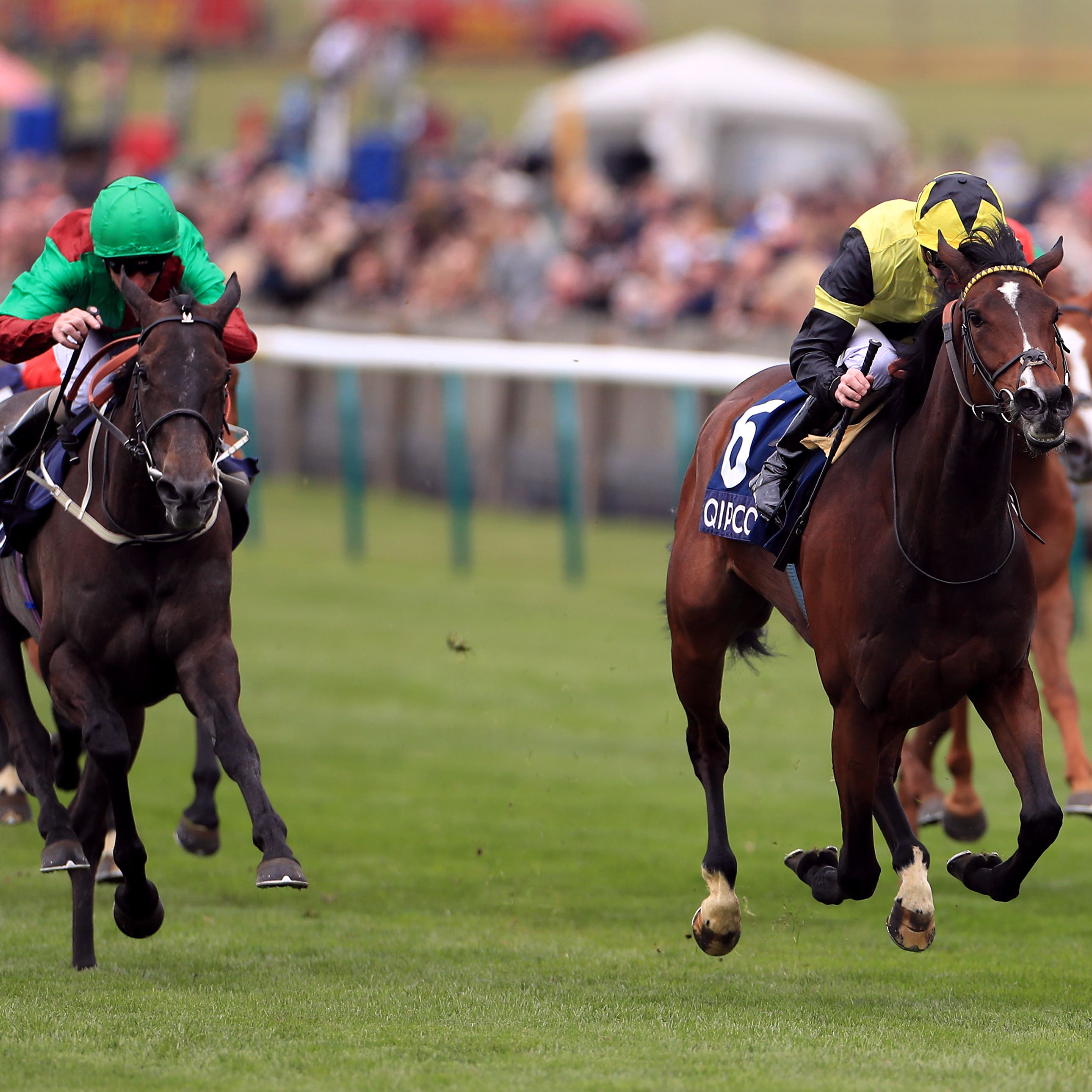 Worth Waiting and James Doyle on the way to winning the Charm Spirit Dahlia Stakes (