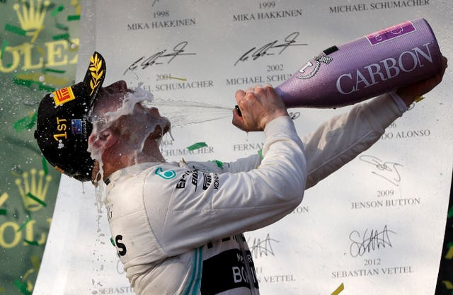 Valtteri Bottas was the race winner in Australia