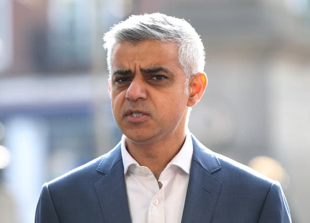 The London mayor has been critical of the president in the past (Yui Mok/PA)