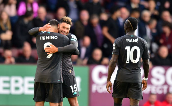 Roberto Firmino and Sadio Mane both scored as Liverpool maintained their perfect start to the season with a 3-0 win at Burnley