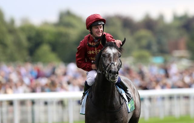 Oisin Murphy was all smiles after winning the Juddmonte International with Roaring Lion