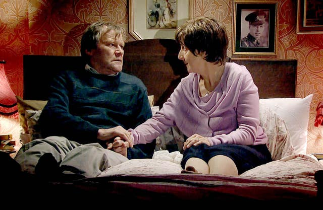 Hayley and Roy Cropper