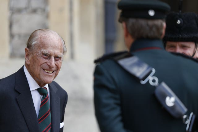 Philip during a rare public appearance when he relinquished his role as Colonel-in-Chief of The Rifles. Adrian Dennis/PA Wire