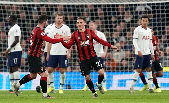 Harry Wilson's two late goals were not enough to earn Bournemouth a point
