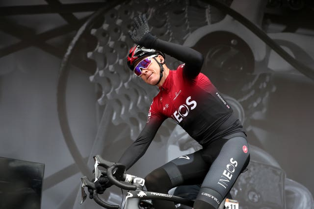 Froome riding for the new Team Ineos ahead of stage two of the 2019 Tour de Yorkshire