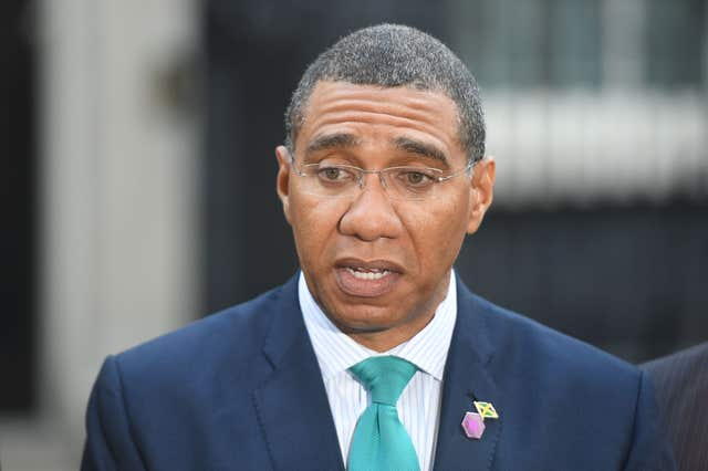 The Prime Minister of Jamaica Andrew Holness has said people affected should be offered compensation (Victoria Jones/PA)