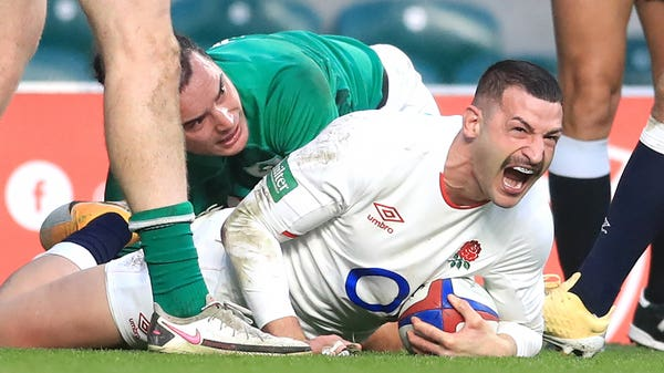 Eddie Jones hails 'serious finisher' Jonny May after fine double against Ireland