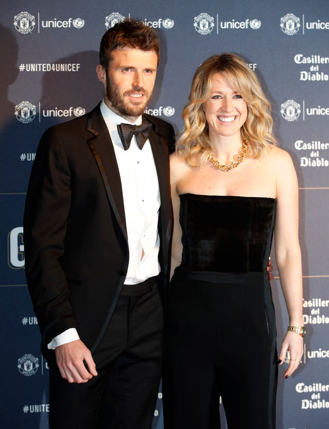 Michael Carrick and wife Lisa Roughead