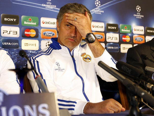 Mourinho in a Real Madrid press conference