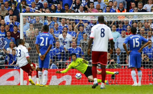 Saving an FA Cup final penalty in 2010