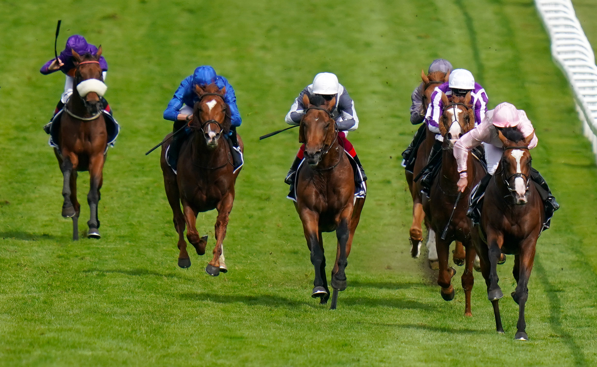 Anthony Van Dyck powered to glory at Epsom in the hands of Seamie Heffernan (John Walton/PA Images)