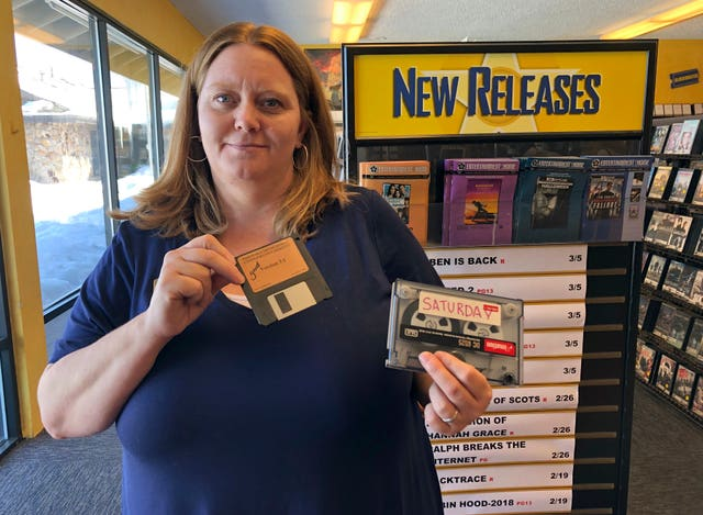 Sandi Harding, general manager of the last Blockbuster on the planet