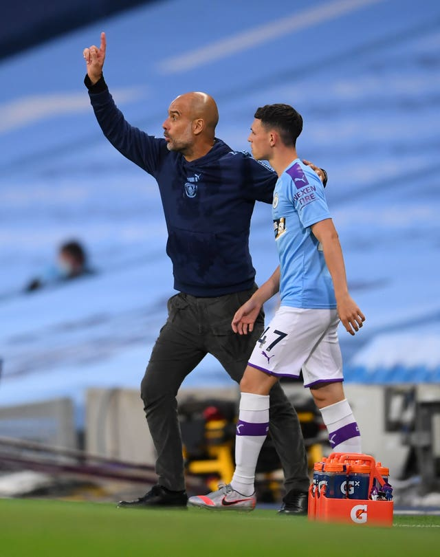 Phil Foden was introduced a second-half substitute against Arsenal
