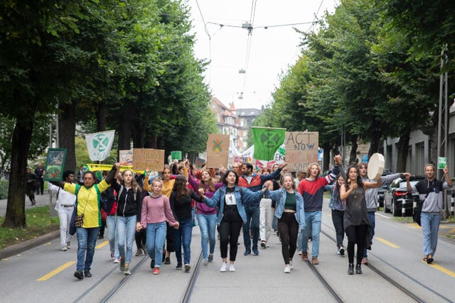 Switzerland Amazon Protest