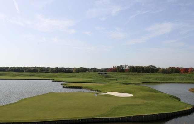 Le Golf National's 18th green.