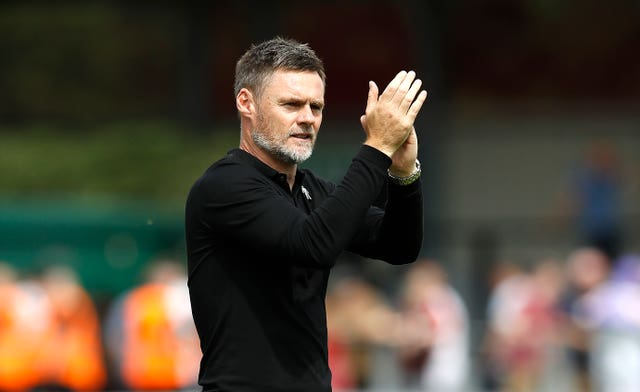 Graham Alexander is managing Salford in their first season as an EFL club (Martin Rickett/PA).